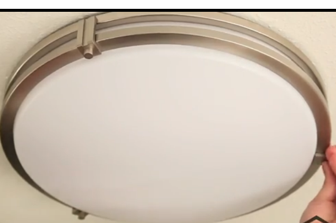 Bathroom Ceiling Light Removal how to open/ twist off the cover of some really stupid/ awkward